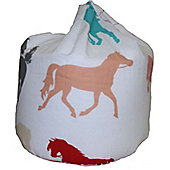White, Horse Bean Bag