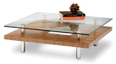 BDI Natural Stained Walnut Coffee Table