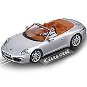 CARRERA Slot Car 27535 Porsche 911 Carrera S Cabrio (silver) - 1/32 Scalextric