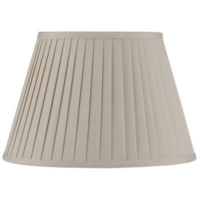 25cm Taupe Lamp Shade Poly Cotton Knife Pleat Classic Design