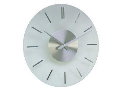 Acctim Visaya Glass Wall Clock Silver