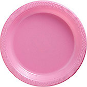 Pink Plastic Serving Plates 26.6cm, Pack of 20