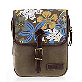 TRP0362 Troop London Classic Canvas Across Body Bag Brown/Print