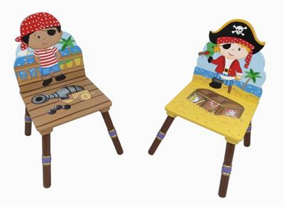 Fantasy Fields Pirate Island 2 Chair Set - Black & Red Hat