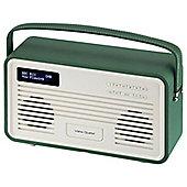 View Quest Retro ColourGen DAB+/FM Radio with iPod Dock (Emerald Green, 30 Pin)