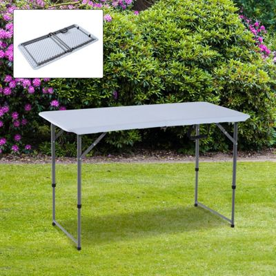 Outsunny Folding Camping Table Outdoor Garden Party Picnic BBQ w/ Adjustable Leg