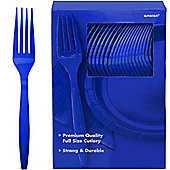 Royal Blue Plastic forks - 100 Pack