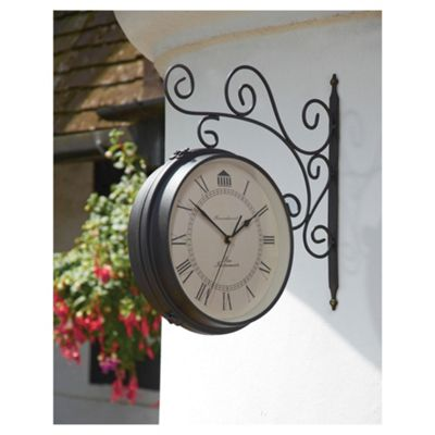 Greenhurst Dual Sided Clock Barometer
