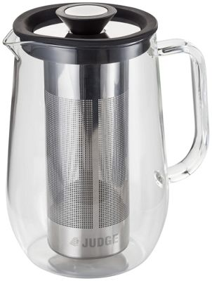 Judge Brew Control Glass Cafetiere with Infuser 8 Cups 900ml