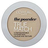 L'Oréal True Match Powder W1 Golden Ivory 9g