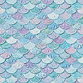Mermaid Scales, Glitter Wallpaper