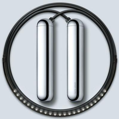 Tangram Smart Fitness Rope│23 LEDs│Magnetic│Chargable│Calories Burner│Chrome Large