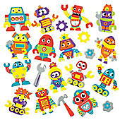 Robot Foam Stickers for Children to Decorate & Embellish Futuristic Collage Cards and Crafts (Pack of 120)