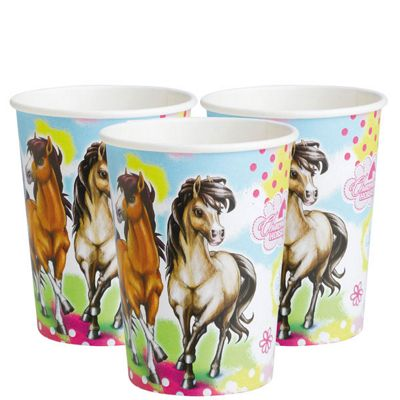Charming Horses Party Paper Cups 250ml - 8 Pack