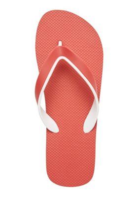 F&F Striped Sole Flip Flops Red Adult 7-8
