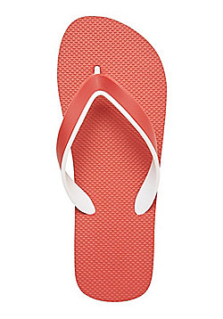 F&F Striped Sole Flip Flops - Red