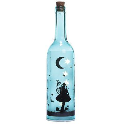 Puckator Fairy Dream Decorative Bottle with LED Bottle, Blue