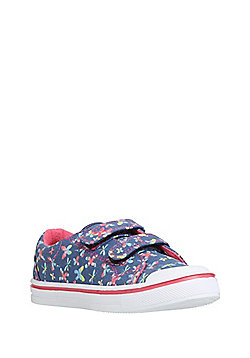 F&F Butterfly Print Riptape Trainers - Blue
