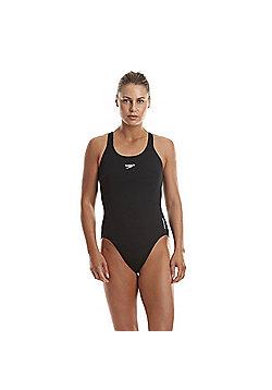"""Speedo Women's Endurance+ Medalist Swimsuit in Navy or Black 34""""-42"""" - Black"""
