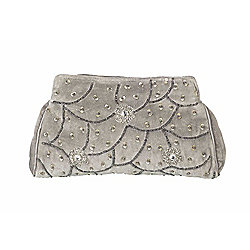 Parlane Stylish Grey Cosmetic Make up Bag With Silver Detail