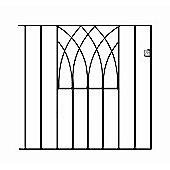 Wrought Iron Style Modern Metal Garden Gate 91cm GAP x 81cm High