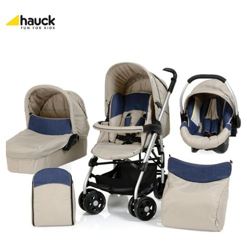 Hauck Condor All-In-One Pushchair, Almond/Jeans