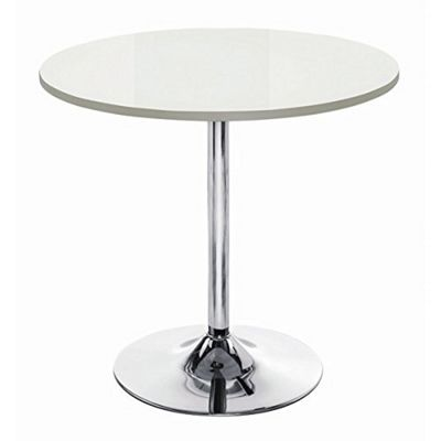 Kuros 4-Seater Dining Round Table with Chromed Base