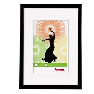 Hama Madrid Black Plastic Frame to fit a 20x30cm Photo.