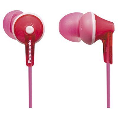 Panasonic RP-HJE125-P ErgoFit In-Ear Earbud Headphones - Pink