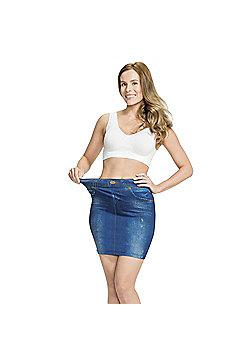 JML Trim 'N' Slim Skirt: Slimming Shapewear Skirt in Various Colours - Blue