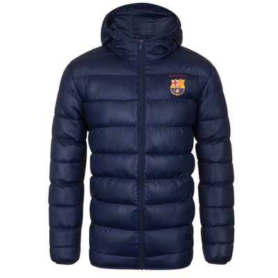 FC Barcelona Mens Quilted Jacket Large