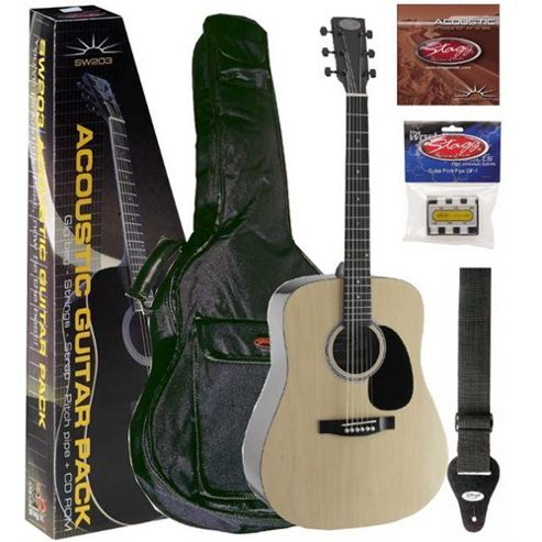 Stagg Acoustic Guitar Pack - Natural