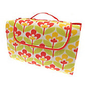 Country Club Family Size Beach & Picnic Blanket 150 x 200cm, Yellow Floral