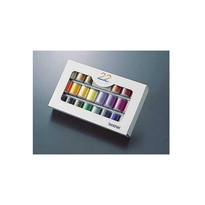 Brother Embroidery Thread Set 22 Colours ETS22