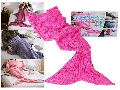 Adult Mermaid Tail Blanket (180cm x 90cm) - Pink