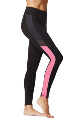Side Panel Fitness Leggings Black-Pink 3X