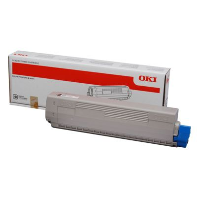 OKI Black Toner Cartridge for C822 A3 Colour Printers (Yield 7,000 Pages)