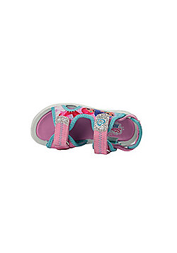 Girls Shimmer and Shine Pink Sports Beach Sandals Hook & Loop UK Size 5 - 10 - Pink