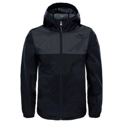 The North Face Boys Zipline Rain Jacket TNF Black S