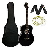 Tiger Black Acoustic Guitar Package