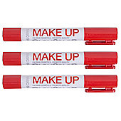 Playcolor Basic Make Up Pocket 5g Face Paint Stick (Pack of 3 - Red)