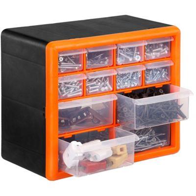 VonHaus 12 Multi Drawer Organiser Nail Bolt Screw Craft Bits Storage Cabinet  Catalogue Number: 239 9480