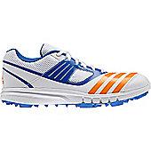 adidas Howzat Mens Cricket Trainer Spikes Shoe White/Blue - White