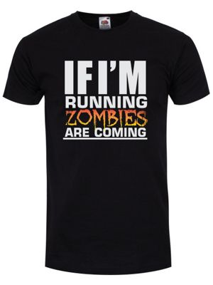 If I'm Running Zombies Are Coming Men's T-shirt, Black.