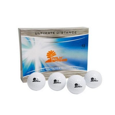 Palm Springs Golf Ultimate Distance 12 Golf Balls Yellow