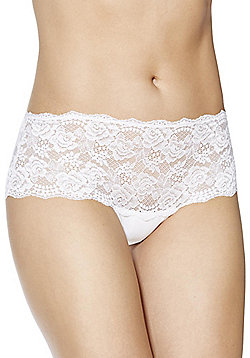F&F Galloon Lace Shorts - White