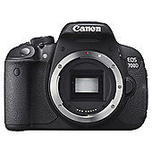 Canon EOS 700D SLR Camera Black Body Only 18MP 3.0Touch LCD FHD