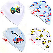 Zippy Brum Brum! Bandana Dribble Bibs, 4 pack, one size