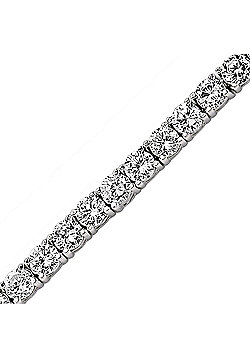 Rhodium-Coated Sterling Silver Tennis Bracelet