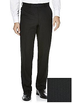 F&F Narrow Stripe Regular Fit Suit Trousers - Black